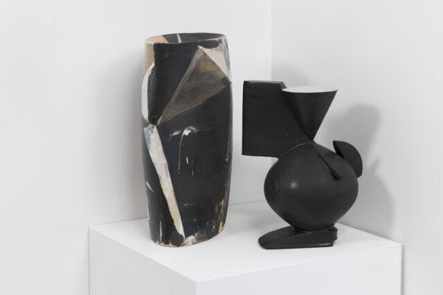 "Collage Still Life  glazed stoneware 2019 19"" x 18"""